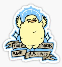 Sassy Body Positive Chick Sticker