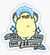 Sassy Body Positive Chick Sticker