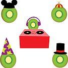 Ain't No Party Like A Kiwi Party (Sticker Set) by Cray-Z