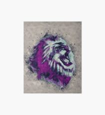 Painted geometric Lion Head in Bright Colors Art Board