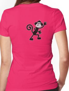 The Monkey on my back Womens Fitted T-Shirt