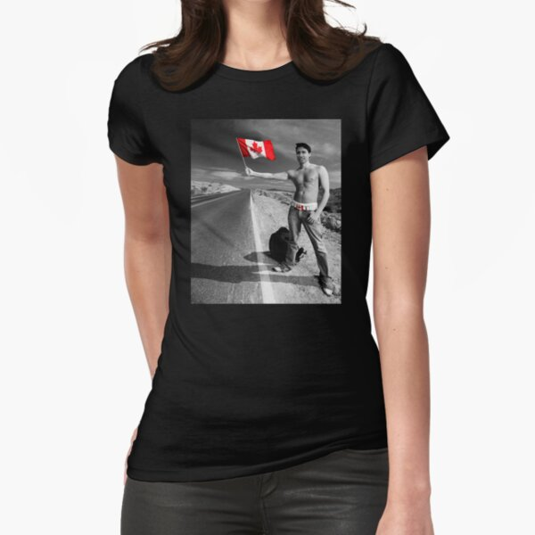 Justin Trudeau: Welcome to Canada Fitted T-Shirt
