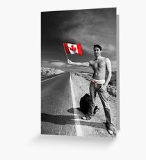 Justin Trudeau: Welcome to Canada Greeting Card