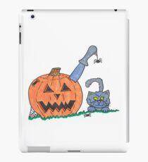Jack o Lantern Cat iPad Case/Skin