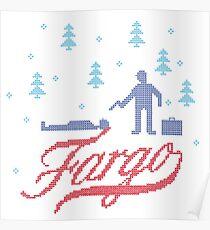 Fargo knit Poster