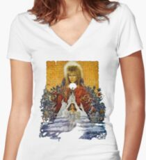 The Labyrinth Women's Fitted V-Neck T-Shirt