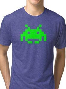 Space Invaders Alien Sprite Tri-blend T-Shirt