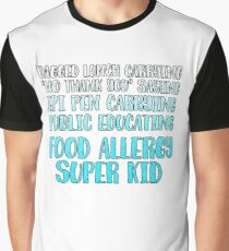 Food Allergy Super Kid Graphic T-Shirt