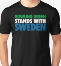 Bowling Green Stands With Sweden (Green/White/Blue) T-Shirt