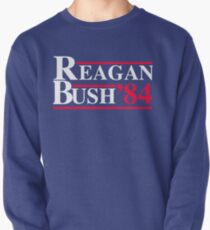 Reagan Bush '84 Retro Logo Red White Blue Election Ronald George 1984 84 1980 80 Republican Election Campaign T-Shirt