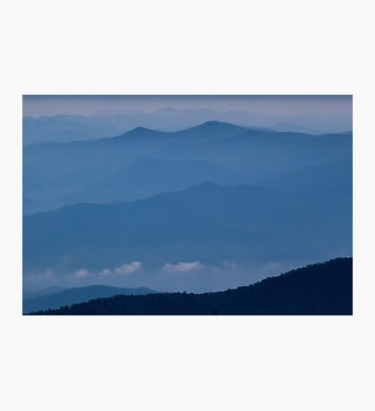 The Far Blue Mountains Photographic Print