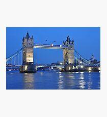 Tower Bridge Blues Photographic Print