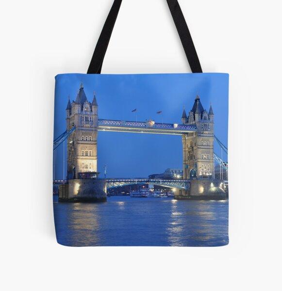 Tower Bridge Blues All Over Print Tote Bag