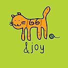 Cute Cat &joy Doodle Graphic Design by thejoyker1986