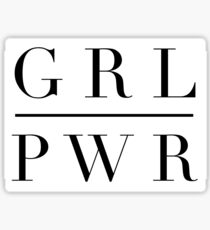 GRL PWR GIRL POWER Sticker