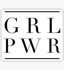 GRL PWR GIRL POWER stickers Sticker