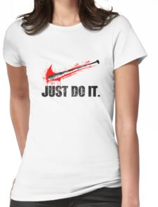 JUST DO IT RED Womens Fitted T-Shirt