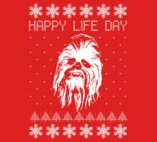 Happy Life Day Shirt / Sweater / Coffee Mug / Pillow - Star Wars Holiday Special - Christmas Sweater Design | Long Sleeve