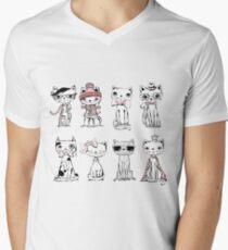 Cat Characters  Men's V-Neck T-Shirt