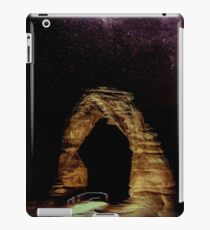 Night Sky Stars - Delicate Arch at Arches National Park Utah iPad Case/Skin