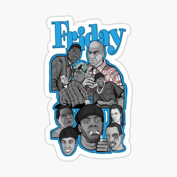 Friday character collage Sticker