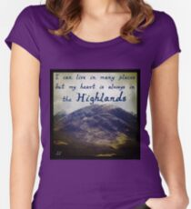 My Heart is in the Highlands Women's Fitted Scoop T-Shirt