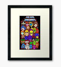Heman character collage Framed Print