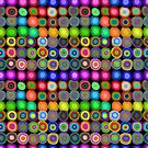 Oil Painted Circles | Multicolor Pattern by Cherie Balowski