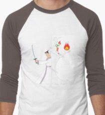 Samurai Jack againts Aku Men's Baseball ¾ T-Shirt
