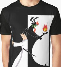 Samurai Jack againts Aku Graphic T-Shirt