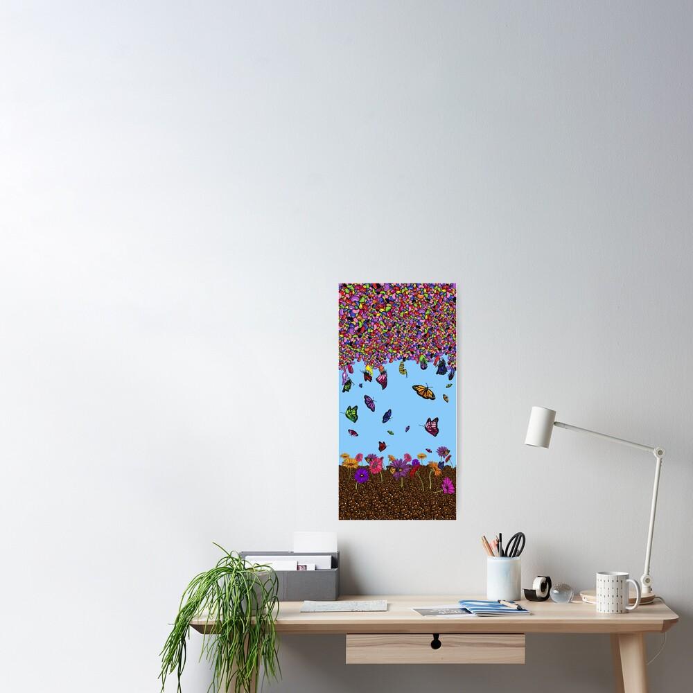 Jellybean Butterflies Poster