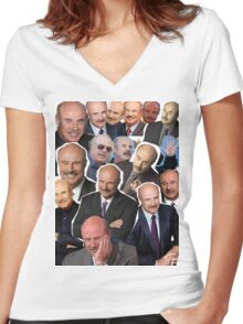 Dr Phil  Women's Fitted V-Neck T-Shirt