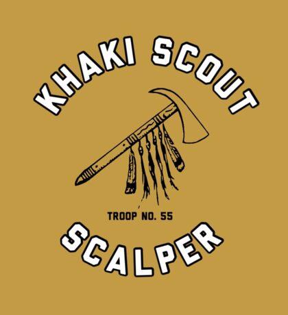 khaki scout print Sticker