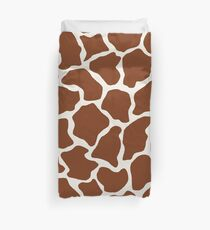 Alabaster in Giraffe Pattern  Duvet Cover