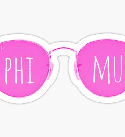 phi mu sunglasses Sticker