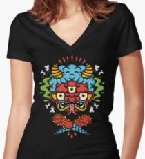 ONI! Women's Fitted V-Neck T-Shirt