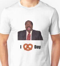 Stanley Hudson the office i love pretzel day  Unisex T-Shirt