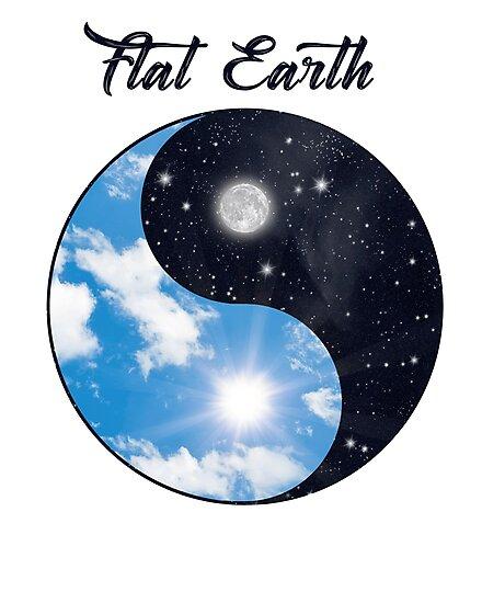 Flat Earth Yin Yang Sun Moon Day Night Photographic Prints By