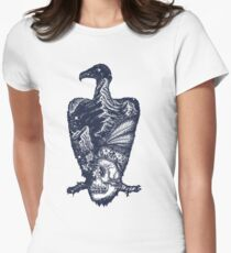 Vulture double exposure Womens Fitted T-Shirt