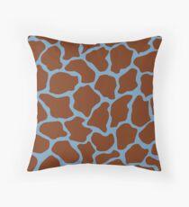 Air Superiority Blue in Giraffe Pattern Throw Pillow