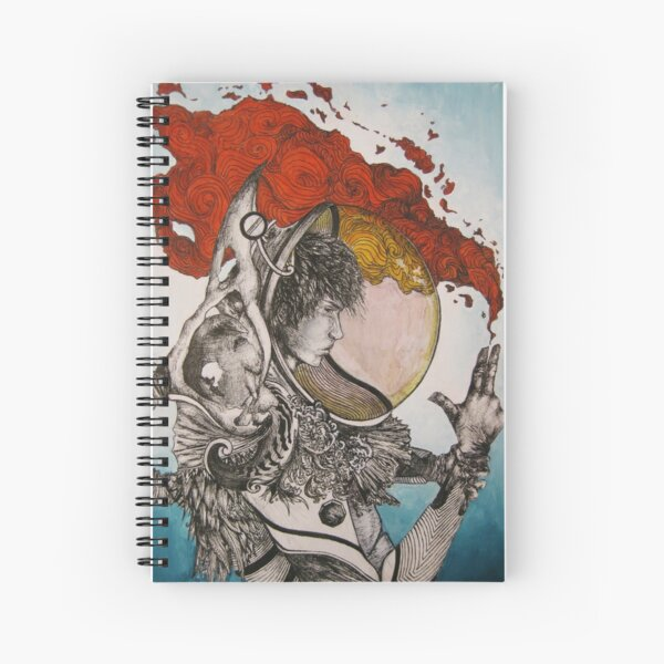 The Industrial Astronaut of Mars Spiral Notebook