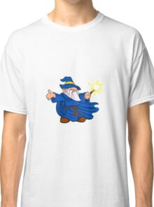 Blue wizard cartoon Classic T-Shirt