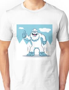 Blue yeti.funny yeti.yeti illustration Unisex T-Shirt