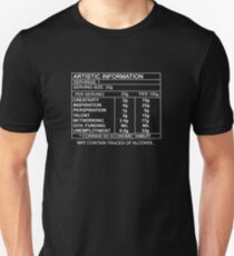 Artistic Information Chart (White Print) T-Shirt