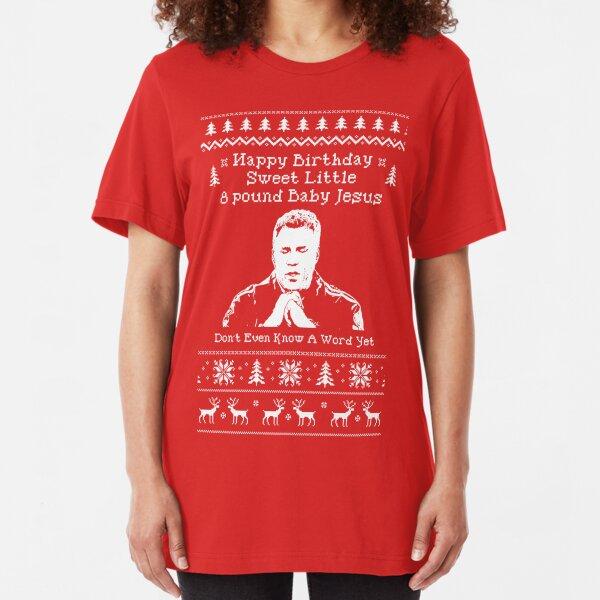 Merry Christmas Smiley Face Seasons Greetings Holiday Mens V-neck T-shirt