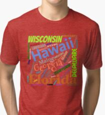Fifty States of America Tri-blend T-Shirt
