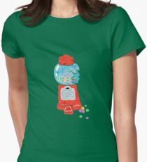 Bubble gum machine.  Womens Fitted T-Shirt