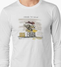 Ninja Chicken - Honing The Skillz II Instagram: @mike.kearldraw Long Sleeve T-Shirt