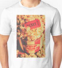 Retro film stub and movie popcorn T-Shirt