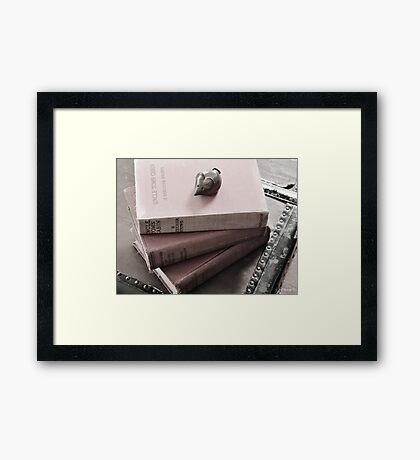 Novel Work Framed Print